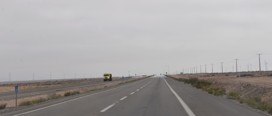 Pan American highway (R5) north of Vallenar