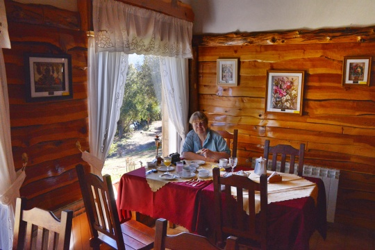 Breakfast at Hosteria Al Paraiso, Villa Pehuenia