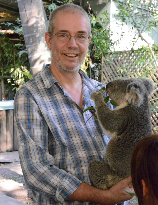 In case of confusion - I'm the cuddly one holding the koala!