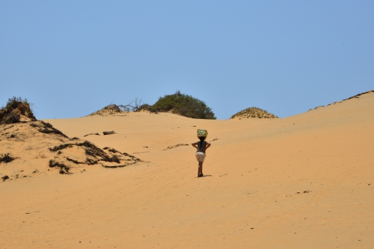 Nadia walked straight past me as I struugled up the sand dune!