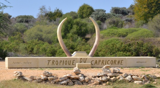 Tropic if Capricorne marker
