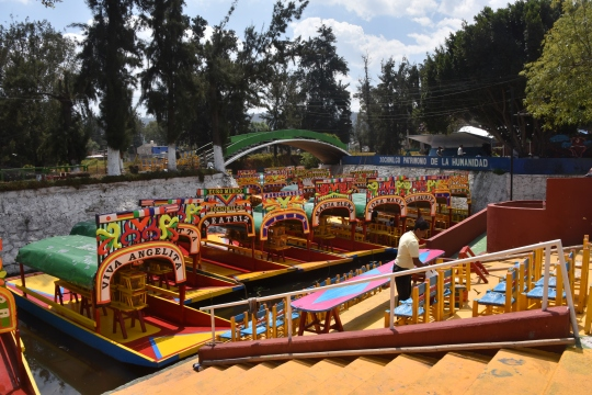 The floating gardens at Xochimilco