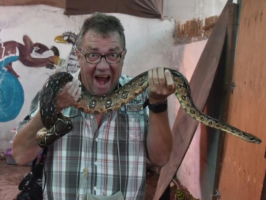 Alain loves his snakes